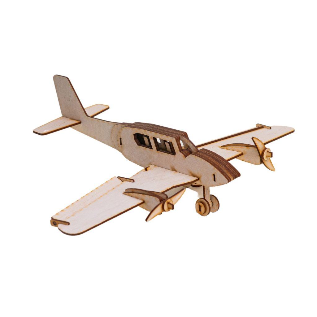 avion doti de lemn - jucarii educative pentru copii